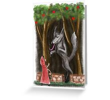 Litte Red and The Wolf Greeting Card