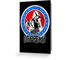 Will Ospreay Red White and Blue Greeting Card