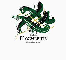 Clan MacAlpine - Prefer your gift on Black/White tell us at info@tangledtartan.com  Unisex T-Shirt