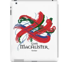 Clan MacAlister - Prefer your gift on Black/White tell us at info@tangledtartan.com  iPad Case/Skin