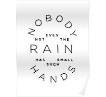 nobody, not even the rain Poster