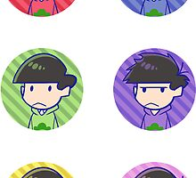 Osomatsu san: Heads Sticker Sheet by Danies
