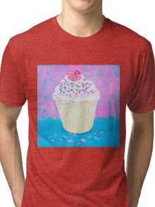 Cupcake with frosting Tri-blend T-Shirt