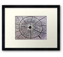 Weathered and Aged Wood Framed Print