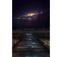 Starglow by the pier Photographic Print