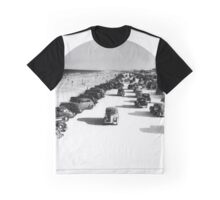 Vintage Cars On Beach Graphic T-Shirt