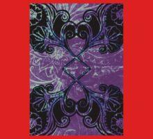Blue ad Purple symmetry floral Kids Tee