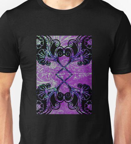 Blue ad Purple symmetry floral Unisex T-Shirt