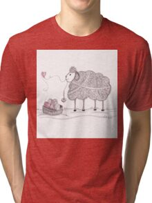 Tangled Spinning Ewe Tri-blend T-Shirt