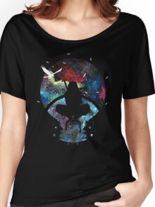 Grungy Ninja Silhouette Women's Relaxed Fit T-Shirt