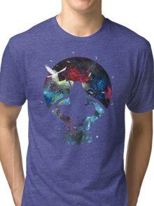 Grungy Ninja Silhouette Tri-blend T-Shirt