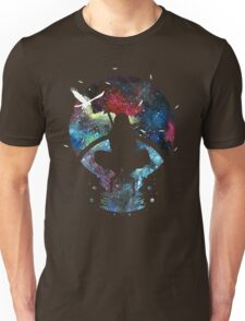 Grungy Ninja Silhouette Unisex T-Shirt