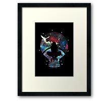 Grungy Ninja Silhouette Framed Print