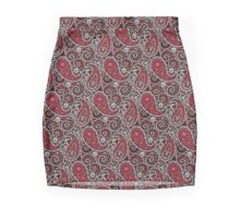 Pushie Paisley Pattern Chrome Mini Skirt