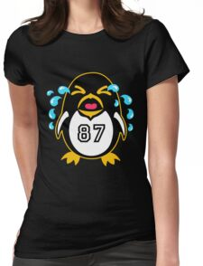 "Crosby Penguin  ""war""Cry Womens Fitted T-Shirt"