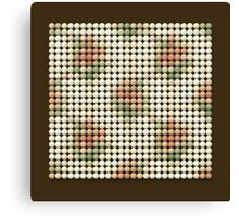VINTAGE PATTERN 04 - Pointillism Canvas Print