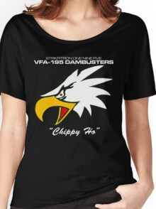 VFA-195 DAMBUSTERS UNITED STATES NAVY STRIKE FIGHTER SQUADRON T-SHIRTS Women's Relaxed Fit T-Shirt