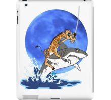 giraffe riding a shark iPad Case/Skin