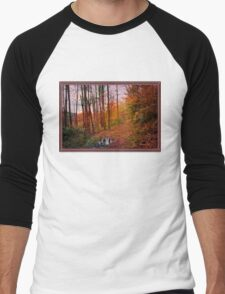 Somewhere in Time ~ A Logging Trail Men's Baseball ¾ T-Shirt