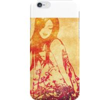 Girl in flowers iPhone Case/Skin