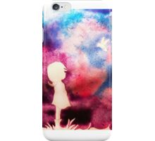Girl and Bird with Purple Sky iPhone Case/Skin