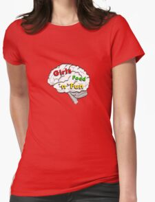 Girls food fun Womens Fitted T-Shirt