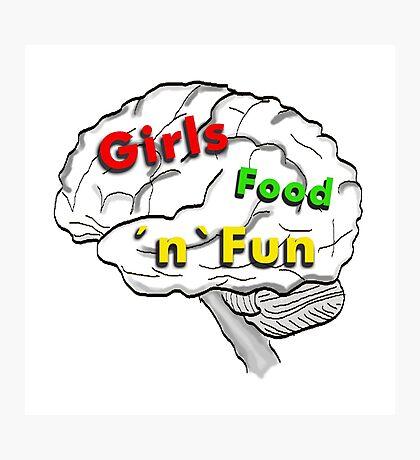 Girls food fun Photographic Print