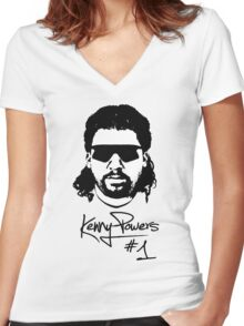 Kenny Powers Nr.1 Women's Fitted V-Neck T-Shirt