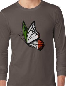 Italian Flag Butterfly Long Sleeve T-Shirt