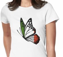 Italian Flag Butterfly Womens Fitted T-Shirt