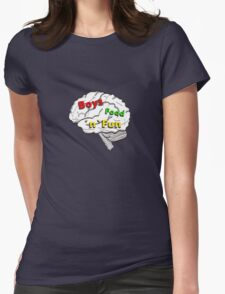 Boys food fun Womens Fitted T-Shirt