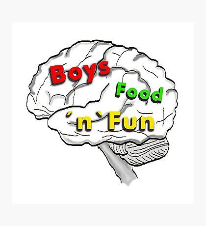 Boys food fun Photographic Print