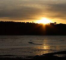 Maquoit Bay Sunset 2 by virginian