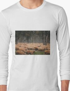 Droving Sheep at Albert  © Vicki Ferrari Long Sleeve T-Shirt