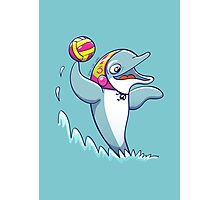 Cool dolphin playing water polo Photographic Print