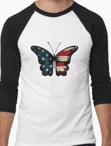 American Butterfly Men's Baseball ¾ T-Shirt