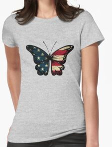 American Butterfly Womens Fitted T-Shirt