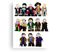 Doctor Who - Toy Doctors Canvas Print