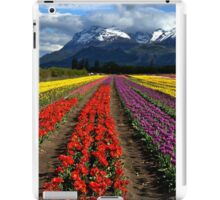Tulips at the foot of the mountain. iPad Case/Skin