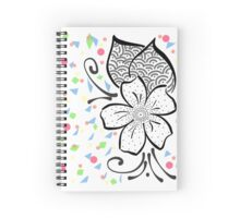 Confetti Flower Spiral Notebook