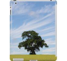 Oak tree landscape iPad Case/Skin