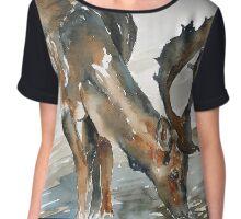 deer#2 Chiffon Top