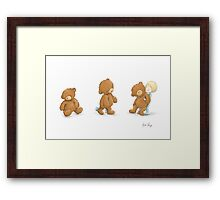 Boy and Ted Framed Print