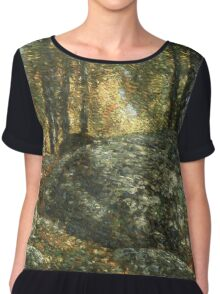 Vintage famous art - Childe Hassam - The Jewel Box, Old Lyme Chiffon Top