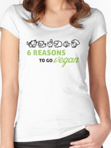 6 reasons to go vegan Women's Fitted Scoop T-Shirt