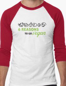 6 reasons to go vegan Men's Baseball ¾ T-Shirt
