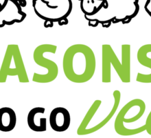 6 reasons to go vegan Sticker
