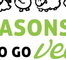 6 reasons to go vegan Sticker