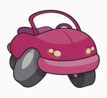 Pink Cartoon Car Kids Tee