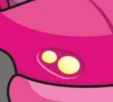 Pink Cartoon Car Sticker